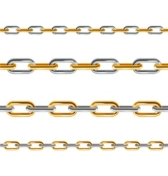 Chain Line Set vector image