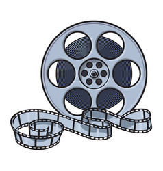 classical motion picture cinema film reel sketch vector image vector image