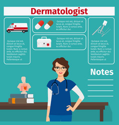 dermatologist and medical equipment icons vector image vector image