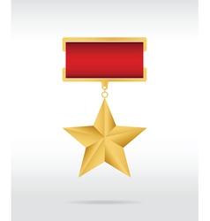 medal star vector image
