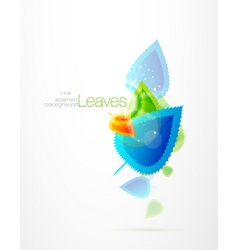 winter leaves vector image