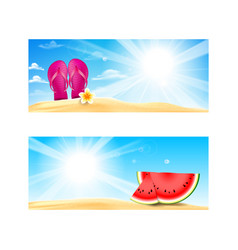 collection of blank banner with copy space summer vector image vector image