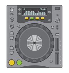 dj cd player vector image vector image
