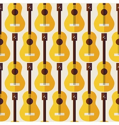 Flat Seamless Background Pattern Music Instrument vector image