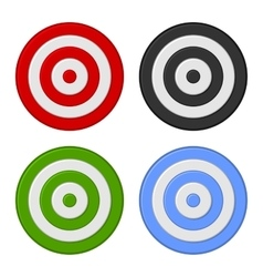 Shooting Target Icon Set Isolated on White vector image vector image