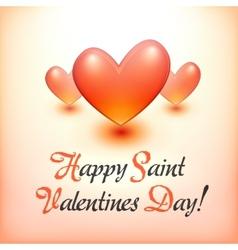 Stylish Happy Valentine Day postcard vector image vector image
