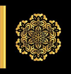 vintage gold round pattern vector image