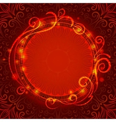 Abstract red mystic lace background with swirl vector image