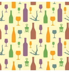 abstract wine seamless pattern vector image vector image