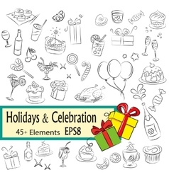 Holidays and Celebration vector image