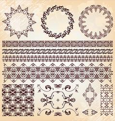set of beautiful vintage elements of design vector image vector image