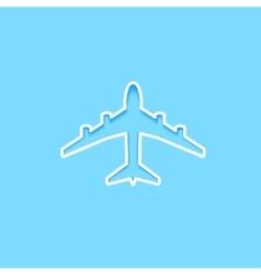 White paper plane icon vector image vector image