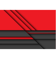 abstract red grey 3d overlap design modern vector image
