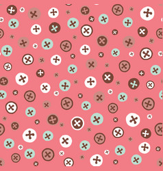 adorable crafters buttons seamless pattern hand vector image