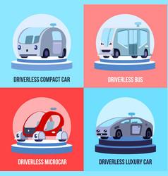Autonomous driverless vehicles concept vector