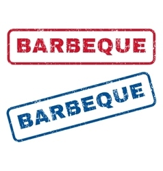 Barbeque Rubber Stamps vector image