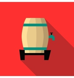 Beer barrel icon flat style vector