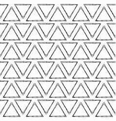 black triangles seamless pattern vector image