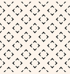 black white ornamental geometric floral pattern vector image