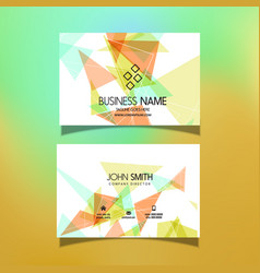 business card with a low poly design vector image