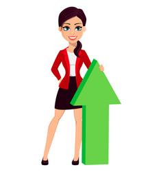 businesswoman cartoon character beautiful woman vector image