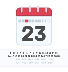 Calendar icon with the date vector