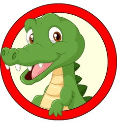Cartoon crocodile mascot vector