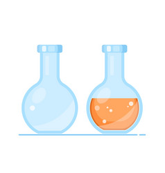 Chemical and biological experiments lab vector