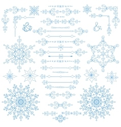 ChristmasNew year decor setWinter borders vector