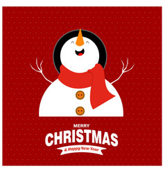 chrustnas card with snow man pattern vector image