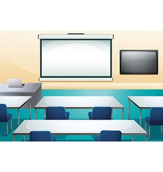 Clean and ogranized classroom vector image