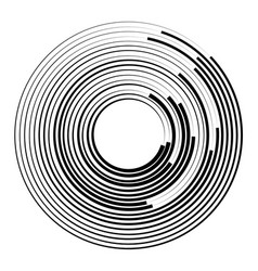 concentric circles geometric element radial vector image