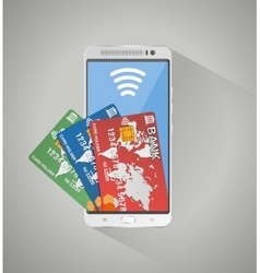 concept of mobile banking and online payment vector image