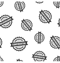 Confidential rubber stamp seamless pattern vector