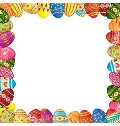 Easter eggs frame vector