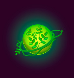 fantasy planet logo vector image