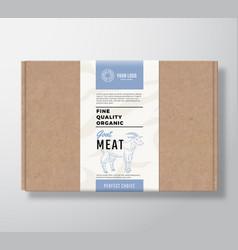 Fine quality organic goat craft cardboard box vector