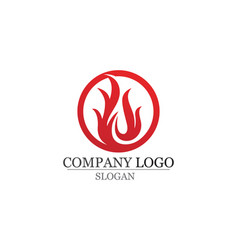 Fire flame logo template icon oil gas and energy vector