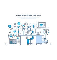 First aid from doctor medical care healthcare vector