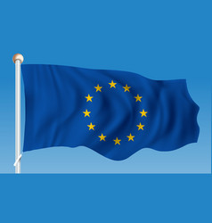 Flag of european union vector