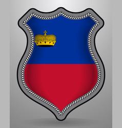 flag of liechtenstein badge and icon vector image