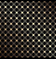 Geometric black and gold seamless pattern with vector