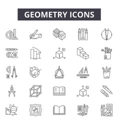 geometry line icons for web and mobile design vector image