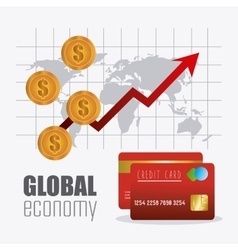Global economy money and business design vector image