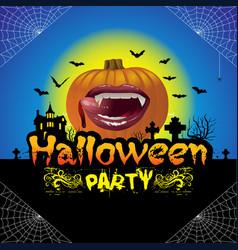 Halloween party concept vector