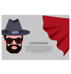 Handyman poster with text vector