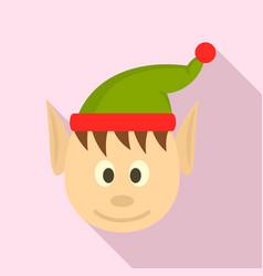 head elfin icon flat style vector image
