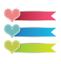 heart button website vector image
