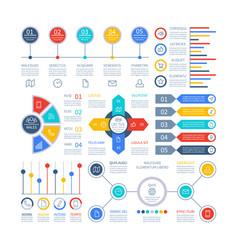 Infographics diagrams infochart elements vector