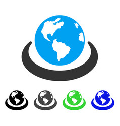 International network flat icon vector